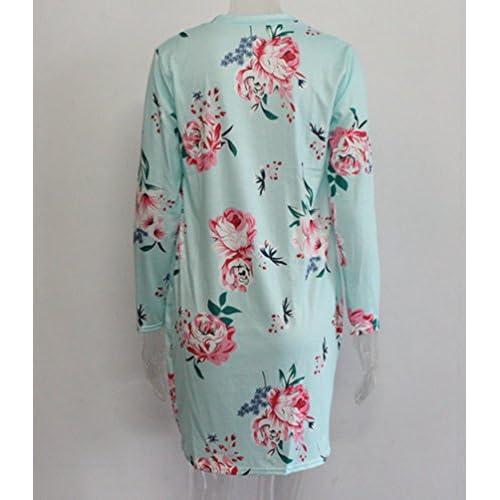 Mujeres Suéter Lovely Floral Manga Larga Kimono Sentao Moda Cárdigan rnUrOX