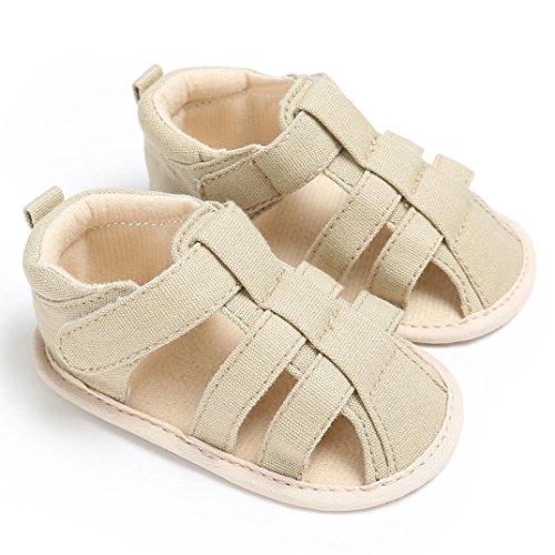 Igemy 1Paar Frühling Sommer Beiläufig Mädchen Jungen Weich Baby Zehe Kappe Bedeckung Strand Sandalen Khaki