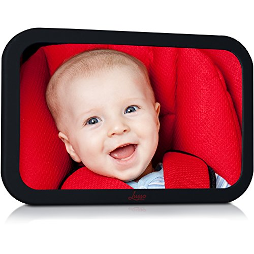 Backseat Baby Mirror for Crystal Clear, Shatterproof Rearview Visibility of Kids in the Car - Featuring the Widest, Most Stable View Available