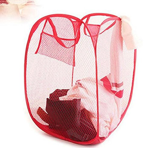 10 PCS Foldable Pop Up Laundry Bag Basket (fine mesh-random color) katito