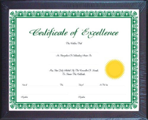 BAZIC Multipurpose Certificate Frame Glass