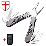 Grand Way Mini Multitool with Knife and Pliers – Best Utility Multi Purpose Tool with All in One Tool Set – Everyday Universal Knife for Camping, Survival and Outdoor Activities 2236 For Sale