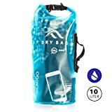 New Acrodo Waterproof Dry Bag Transparent 10 Liter Floating for Boating, Camping, and Kayaking With Shoulder Strap – Keeps Clothing & Electronics Protected