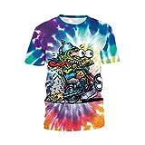 SEVENWELL Unisex 3D Creative Graffiti Print Hip Hop Style Tee T-Shirt XXXL #8