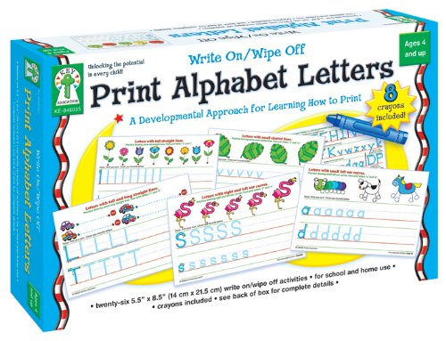 Carson-Dellosa Publishing 846035 Write-On/Wipe-Off Print Alphabet Letters Activity Set, Ages 4 and Up (CDP846035) Education Center