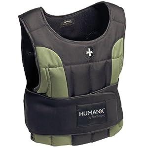 Harbinger HumanX 20 Pound Weight Vest, One Size, Black/Green