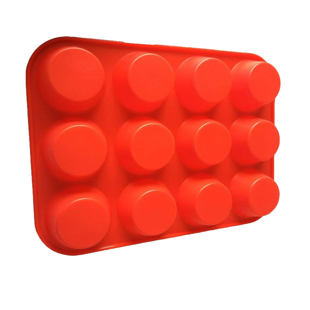 IPEC THERAPY 12 Cup Muffin Cupcake Baking Pan/Non - Stick Silicone Mold/Dishwasher - Microwave Safe, Red by IPEC THERAPY (Image #6)