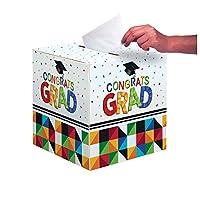 Creative Converting Graduation Party Card Holder Box, Fractal Fun