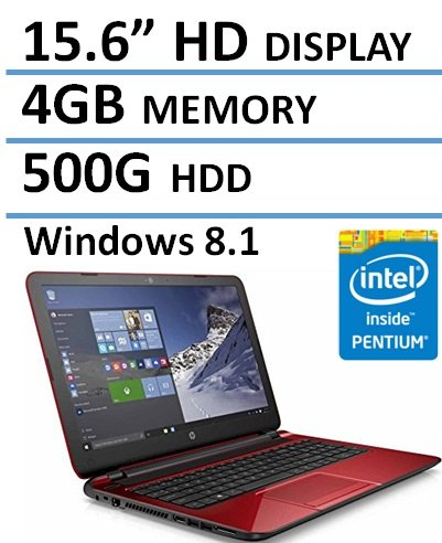 HP-Red-156-Laptop-Intel-Quad-Core-216GHz-CPU-4GB-500GB-HDD-Certified-Refurbished