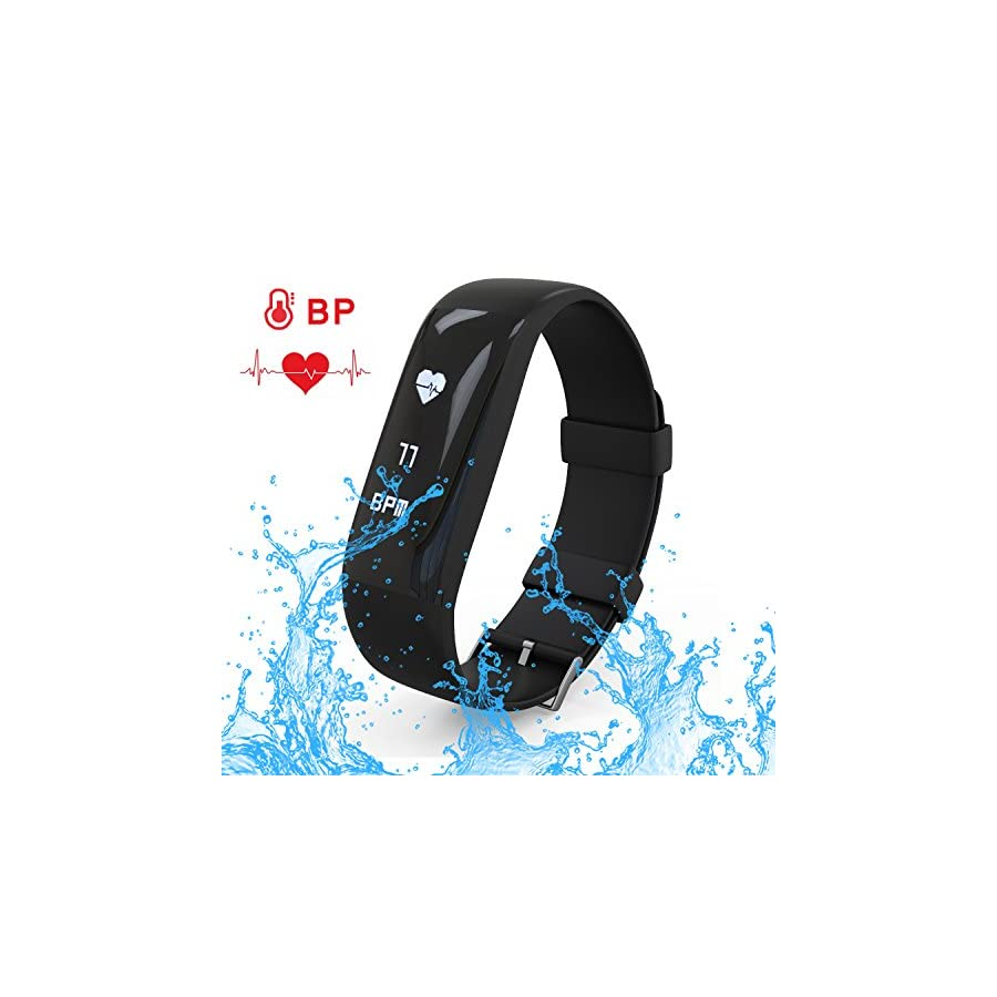 AK1980 Waterproof Fitness Tracker with Heart Rater Monitor Activity Tracker (2017 version)