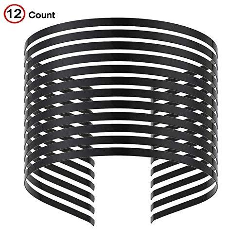 Smooth Metal Headbands Women Hair DIY Craft Blank Thin Steel Wire Frame Hairband Head Bands Black