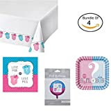 Gender reveal baby shower party decorations bundle. Comes with boy girl baby ...