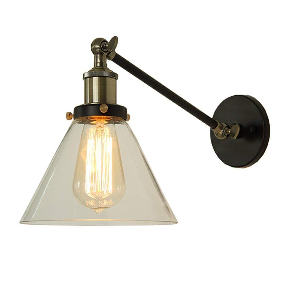 EMILF Home Retro minimalistische Wandleuchte Kreative Einstellbare Eisen Wandleuchte Cafe bar bar Lampe (Farbe   2)