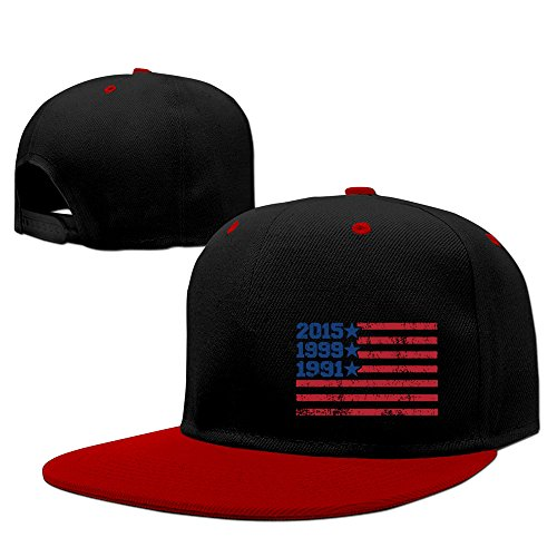 FIFA 2015 Women's World Cup Champions American Flag Snapback Hip Hop Baseball Cap Red