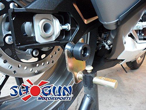 Shogun Motorsports 755-5459 No Cut Complete Kit Frame Sliders Black Suzuki GSXR600 (11-17) GSXR750 (11-17) by Shogun Motorsports (Image #2)