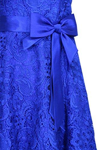 34 50 Christine mit Abendkleid Farben Knielanges Träger Gr amp; Vokuhilakleid Blau JuJu Sarah Cocktailkleid Spitenkleid vers afOFaqw