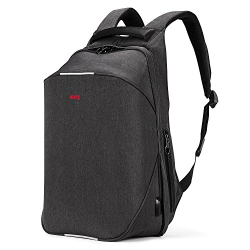 Uoobag Laptop Backpack Slim Travel Bag Anti Theft Water-Resistant 15.6 Inch