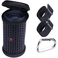 LuckyNV PU Leather Travel Storage Bag Hollow Carved Case for UE Boom 1 and 2 Bluetooth Speaker Black