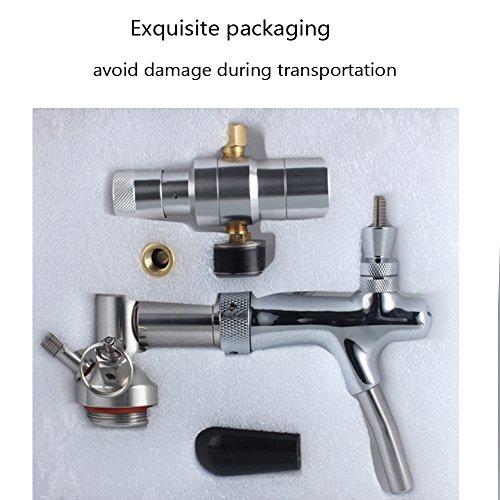 64OZ/128 OZ Mini Keg tap Dispenser Stainless Steelbeer growler faucet/beer keg coupler by HAVEGET (NO.1) by HaveGet (Image #4)