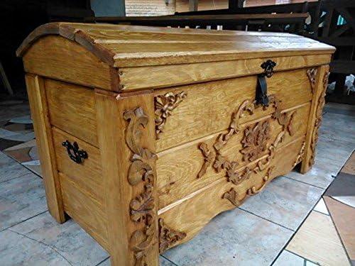 Decocraft Manta de Madera Caja Mesa de café Trunk Vintage en el Pecho de Madera Ottoman Caja (JUL2: Amazon.es: Hogar