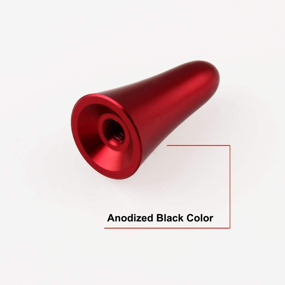 Antena rechoncha de Aleaci/ón de aluminio Stubby picadura de abeja de coches rojo