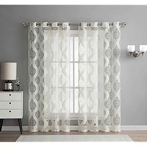 Sheer Living Room Curtains: Amazon.com