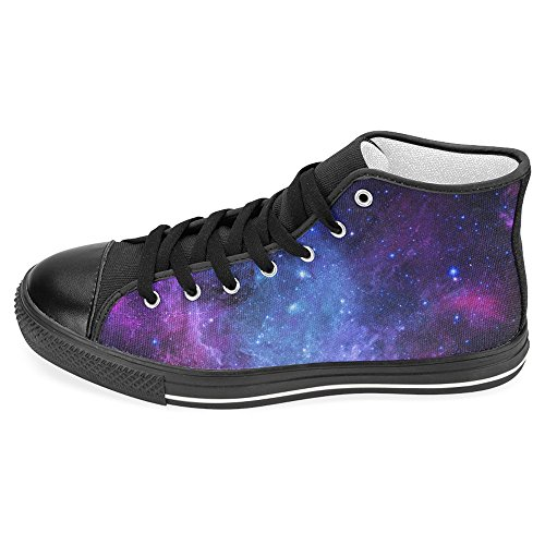 InterestPrint Women's High Top Classic Casual Canvas Fashion Shoes Trainers Sneakers Stylish Galaxy Size 10 ()