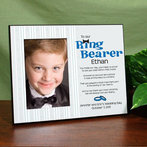 Ring Bearer Personalized Printed Frame, Holds a 3.5