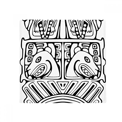 DIYthinker Indian Abstract Line Drawing Totem Pole Face Anti-Slip Floor Pet Mat Square Home Kitchen Door 80cm Gift