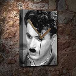 CHARLIE CHAPLIN - Canvas Clock (A5 - Signed by the Artist) #js002