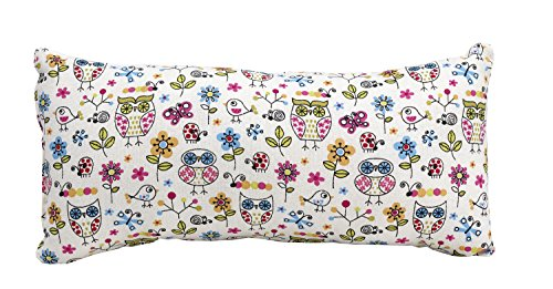 Prop 'em Up Nursing Assist Pillow Baby's Head Size, White with Owls