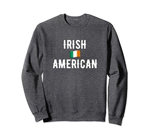 Ireland Flag Sweatshirt (Unisex Irish American Flag St. Patricks Day Pride Sweatshirt 2XL Dark Heather)
