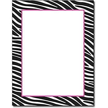 Amazon full leopard print with border stationery letter zebra border stationery paper 100 sheets voltagebd Choice Image