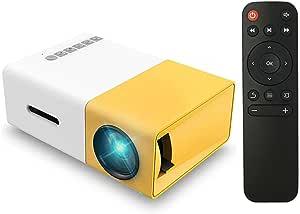 جهاز عرض ليد بدقة 1080 بكسل، الة عرض بجودة عالية الدقة HD ومنفذ USB وايه في وفتحة بطاقة تي اف وريموت كنترول بجيب صغير للاب توب والكمبيوتر مع منفذ UK، FW1S YG300