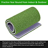 SkyLife Golf Practice Mat Dual-Turf 3' x 5' Driving Chipping Putting Hitting Turf Training Equipment for Backyard Home Garage Outdoor Use