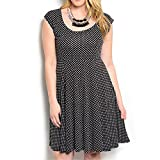 Product review for 8512 - Plus Size Polka Dots Full Swing A-line Summer Dress Black White