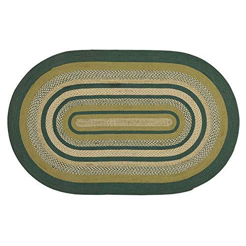 Rustic & Lodge Flooring - Sherwood Green Oval Jute Rug, 5