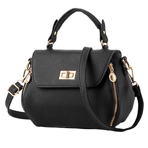 Dame-elegante Handtaschen -Schulterbeutel Totebeutel -Handtasche , Schwarz