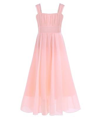 a991f992c06 Freebily Enfant Fille Longue Robe de Mariage Soirée Cérémonie Princesse  Casual A-Line Robe d