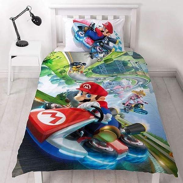 Super Mario Nintendo Kart - Funda de edredón para Cama Individual ...