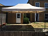 All Seasons Gazebos, 3x4.5m, Heavy Duty, Fully Waterproof, PVC Coated, Premium Pop Up Gazebo + Carry Bag With Wheels & 4 x Superior Leg Weight bags. Choice of colours (Beige)
