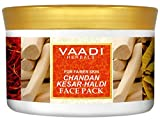 Sandalwood and Saffron Face Pack - Herbal Face Pack - ALL Natural - Sulfate Free - Suitable for All Skin Types - Value Pack of 600 gms (21.16 Oz) - Vaadi Herbals