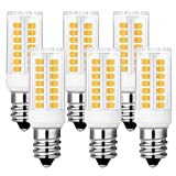 KINDEEP Dimmable E12 LED Candelabra Bulb, 4W (40W Incandescent Bulb Equivalent), Warm White 3000K Ceiling Fan Bulb, 6-Pack