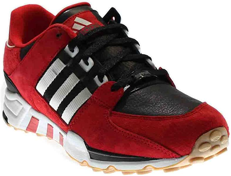 adidas Mens EQT Equipment Running Support London Marathon Black Red-White  Leather Size 10 a9c996716