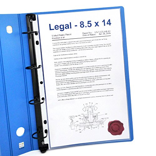 Keepfiling Legal Size Sheet Protectors 8.5 x 14, 7-Holes, Top Open, Extra Heavyweight, Glass Clear, 50 Pack