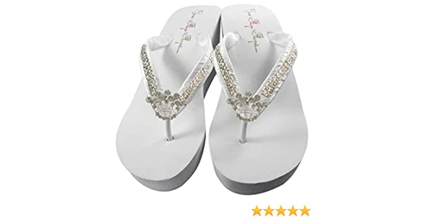 591cac5f1 Amazon.com  Ultimate Bling Princess Crown Wedge Flip Flops