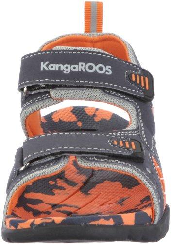 KangaROOS Sinclair 11097 - Sandalias para niño Azul (Blau (navy/orange 477))