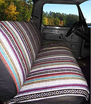 Dodge West Coast Auto Universal Baja Saddle Blanket Bench Full Size Seat Cover Fits Ford and Full Size Pickup Trucks Chevrolet Red