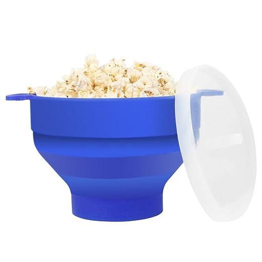 Popcorn Maker, palomitas de microondas cocina cuenco con asa, FDA ...