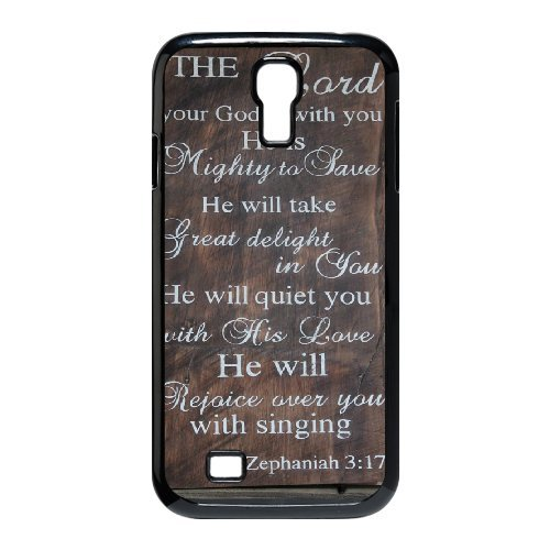 Phone Case for Samsung Galaxy S4 i9500, Personalized Custom Pattern with Vintage Bible Verse Scripture Quotes, Durable Protective TPU Material Hard Cover, from Angel[Pattern-6]